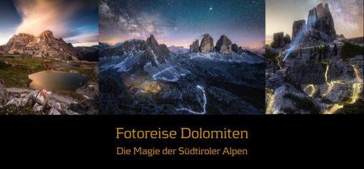 Dolomiten Workshop Reise 22. - 28. September 2019 -letzter Platz verfügbar-