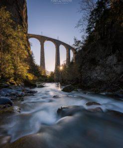 Langzeitbelichtungen am Landwasserviadukt 03. - 04. August 2019
