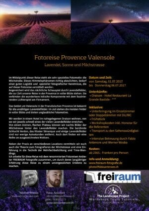 Valensole Fotoreise Workshop 01.07.17-06.07.17 SOLD OUT