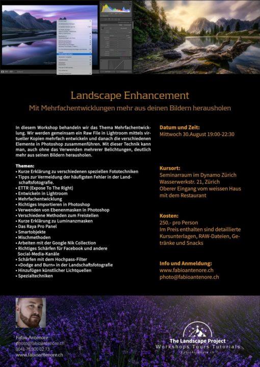 Landscape Enhancement Fotoworkshop 30.08.17